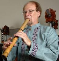 Dale Olsen playing shakuhachi